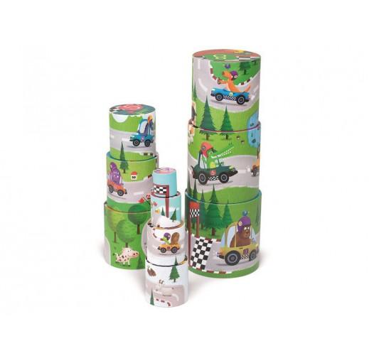 janod piramida wieża do zabawy dla 12 miesięcznego dziecka