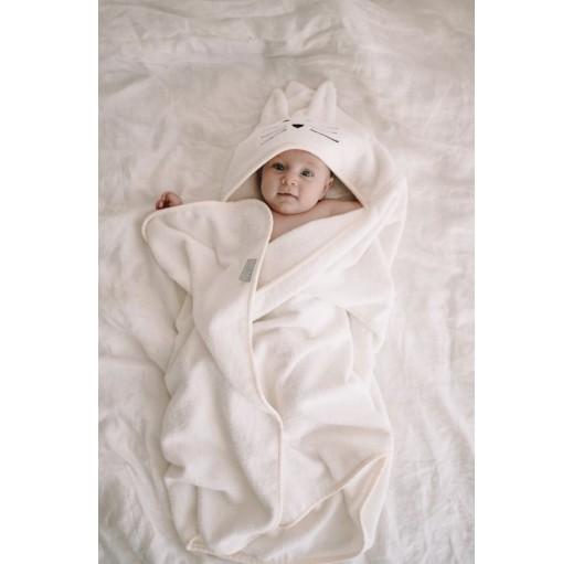 bambusowy ręcznik z kapturkiem dla niemowlaka
